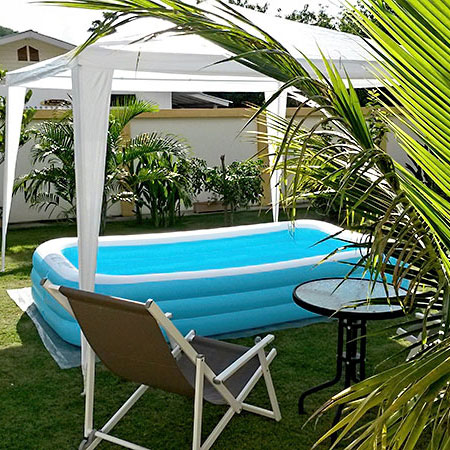 Plastik Pool swimming pool hartplastik. finest sprinklers water slides with